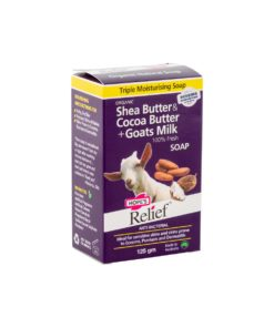 Hope's Relief Organic Shea Butter, Cocoa Butter & Goat's Milk Soap 125g