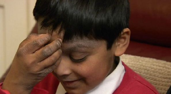 Eight-year-old Tahmid Ahmed,of Nottingham, hopes the clothing will make his life more comfortable.