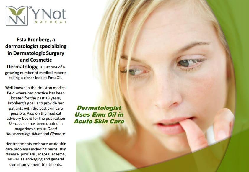 emu oil dermatologist recommendation