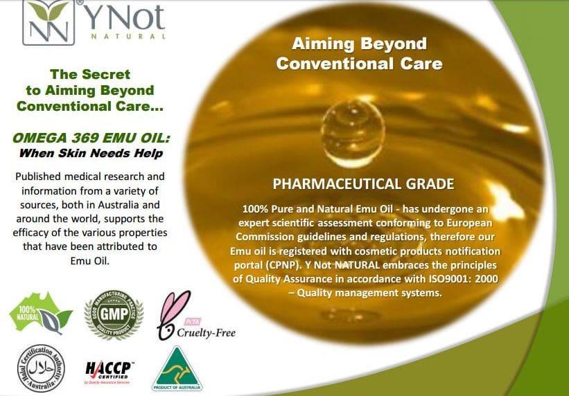 YNN Omega369 Emu Oil pharmaceutical-grade